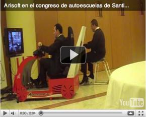 Arisoft, en el congreso nacional de autoescuelas de Santiago de Compostela 2010