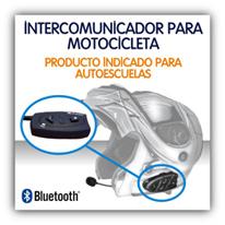 Intercomunicador para motocicleta y turismo en autoescuelas