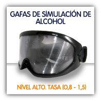 Gafas de simulación de alcohol en sangre