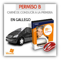 CD multimedia del Permiso B en gallego
