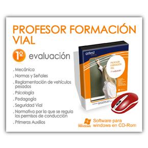 PROFESOR DE FORMACIÓN VIAL 1ª EVALUACIÓN CURSO XXII-ACTUALIZACIÓN
