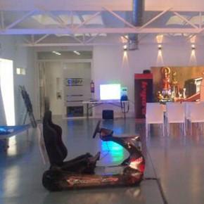 El simulador DRIVE SEAT 500RC en el evento Earpro LED Show, que se celebra el 8 de mayo en Madrid