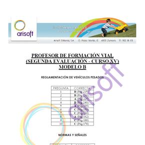 Cuestionario y corrector del MODELO B – Segunda evaluación – Profesor de Formación Vial (examen 18.07.2013)