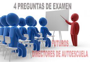 Futuros directores de autoescuela: 4 preguntas de repaso para el examen del 30 noviembre