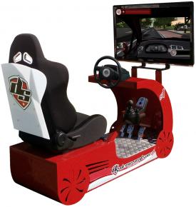 """Arisoft participa en la jornada """"La Seguridad Vial en la Empresa. V Encuentro de Buenas Prácticas"""" con un simulador de coche"""