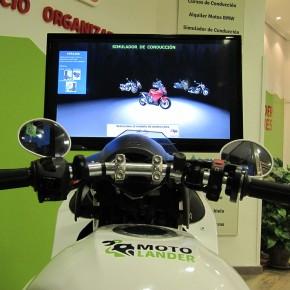 Simulador de conducción de moto en Moto-lander