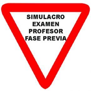 Simulacro examen profesor formación vial fase previa curso XX