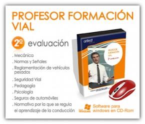 Profesor Formación Vial: test 2ª evaluación