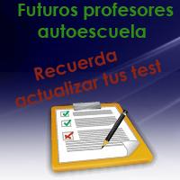 Actualización test profesor formación vial 1ª evaluación curso XXI