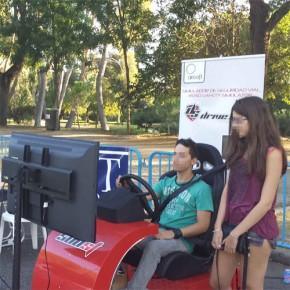 Simuladores de moto y de turismo en el evento Muévete por Madrid en Moto