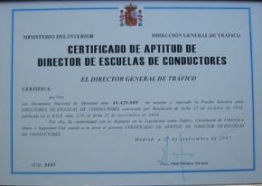 Ya se pueden retirar los certificados de Directores de autoescuela